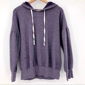 Xhilaration Hooded Sweatshirt Puff Sleeve Purple M